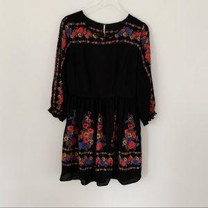 Free People | Long Sleeve Floral Dress